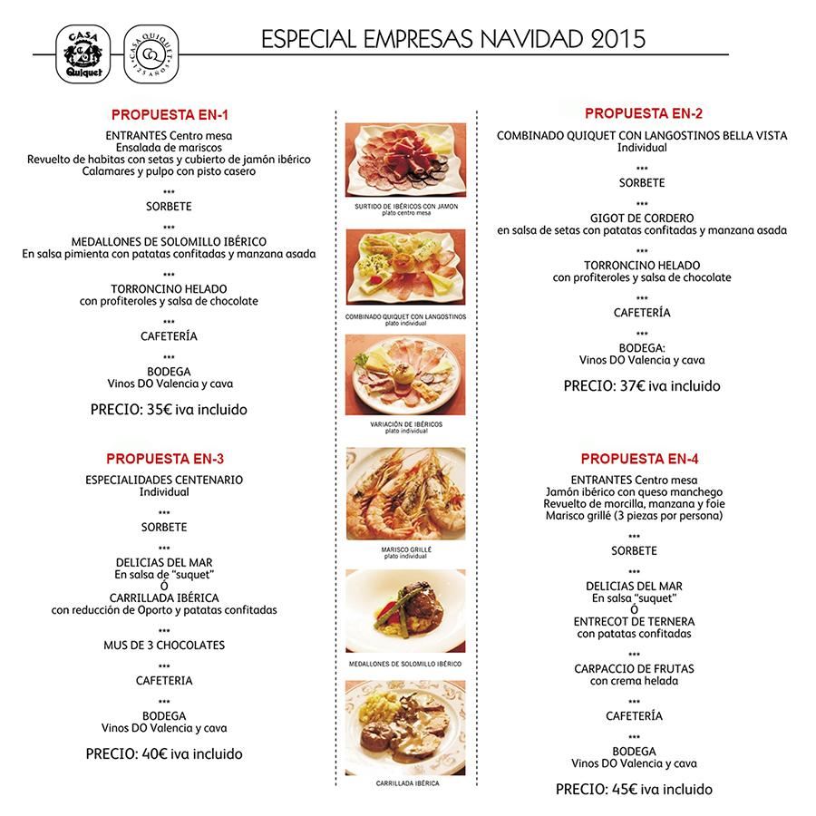 Menus empresas navidad 2015 valencia comidas y cenas de - Cenas para navidad 2015 ...
